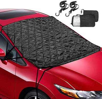 Leader Accessories Wind Proof Reversible Car Windshield Snow Ice Cover
