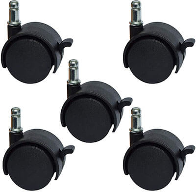 MySit Office Chair or Stool Caster Wheels with Brake