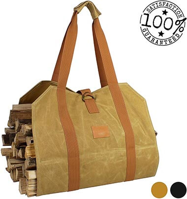 Off the Grid Firewood Log Wood Carrier Bag