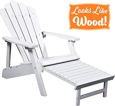 PolyTEAK Deluxe Oversized Reclining Adirondack Chair