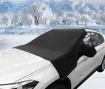 TOPLUS All Weather Winter Summer Magnetic Windshield Snow Cover
