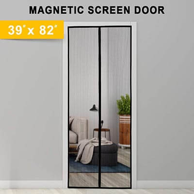 Titan Mall Screen Door with Super Tight Self Closing Magnetic Seal & Durable Polyester