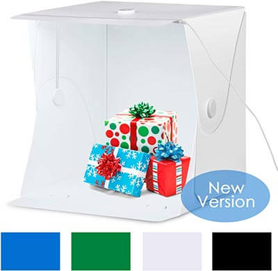 Amzdeal Portable 16x16 Inch LED Light Box Table Top Photography Shooting Kit