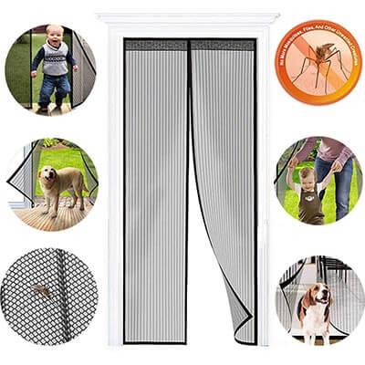 Zengest Mesh Curtain, Heavy Duty Door Screen Magnetic Closure