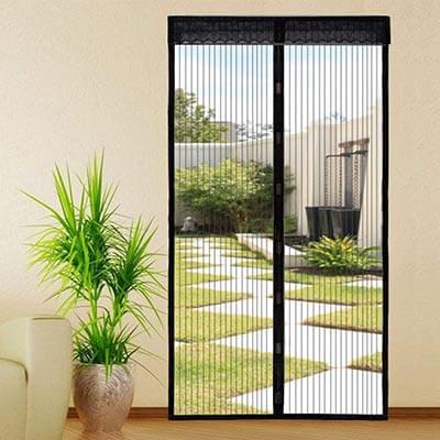 Kingterence Magnetic Door Mesh Fly Mosquito Curtain Heavy Duty Fiberglass Screen Door Mesh