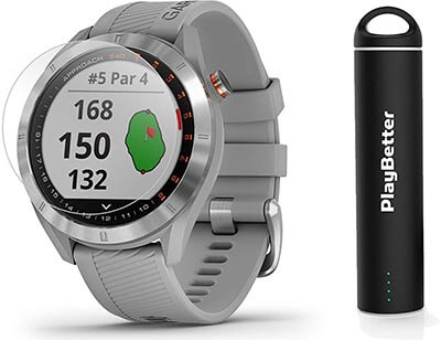 Garmin Approach S40 Golf GPS Smartwatch Bundle