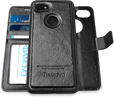 Amovo Two-in-one Pixel 3a Wallet Case