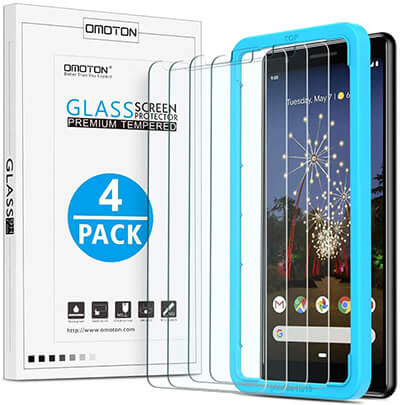 OMOTON 4 Pack Screen Protectors for Pixel 3a