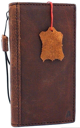 JAFO Genuine Leather Wallet Case for Google Pixel 3a