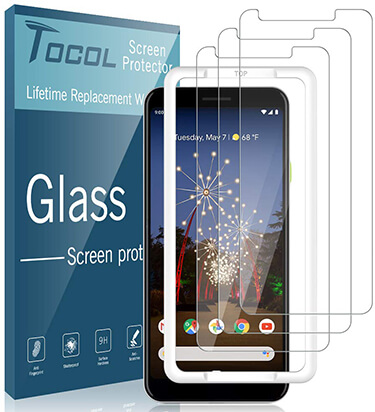 TOCOL Screen Protector Tempered Glass Protectors for Pixel 3a XL