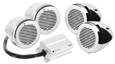 Planet Audio PMC4C Bluetooth, Weatherproof Speaker & Amplifier Sound System