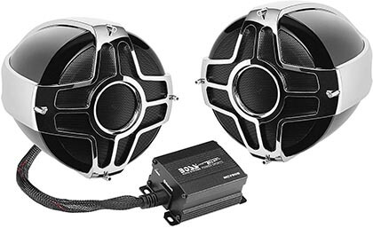 BOSS Audio MC750B Motorcycle / ATV Bluetooth, Weatherproof, Two 4 Inch Speakers