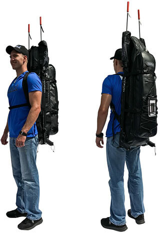 MAKO Spearguns Spearfishing Long Fins Free-diving Backpack