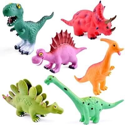 FUN LITTLE TOYS Dinosaur Baby Bath Toys