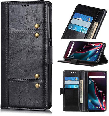 Jbao Direct Oneplus 7 Pro Genuine Leather Wallet Case