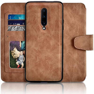 Newseego Compatible with Oneplus 7 Pro Premium Leather