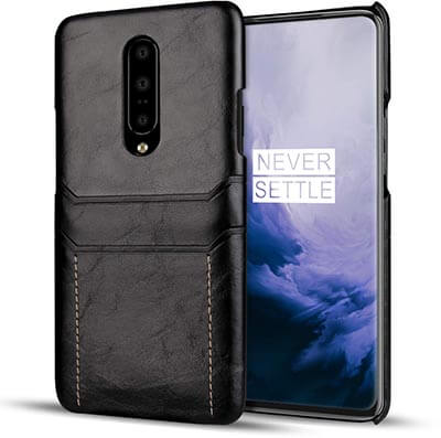 OnePlus 7 Pro Case, Bpowe Vintage Leather Wallet Phone Case