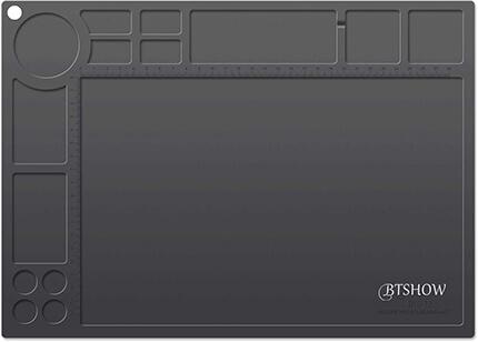 BTSHOW Heat Resistant 954°F Silicone Gun Cleaning Mat