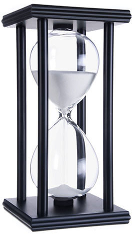 Daya Fashion Hourglass White Sand Timers