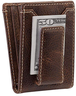 HOJ Co. IVAR ID BIFOLD Leather Money Clip Wallet