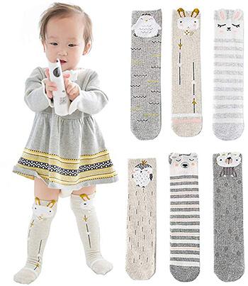Marjunsep Baby Socks Toddler Girl Knee High Socks Leg Warmers