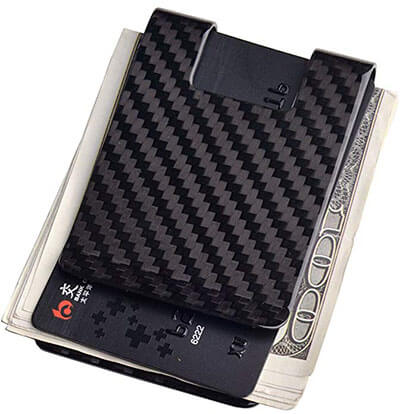 CL CARBONLIFE Carbon Fiber Business Card Money Clip Wallet