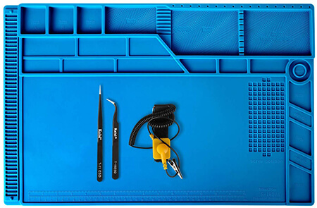 Kaisiking 4 Pcs Set Silicone Repair Mat with Anti-Static Wrist