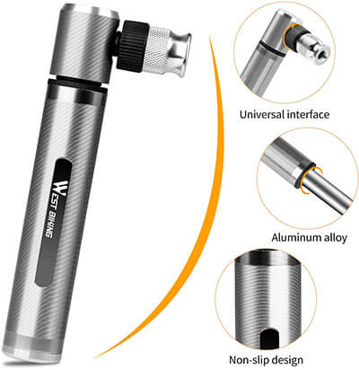 West Biking 160PSI Portable Mini Bicycle Pump