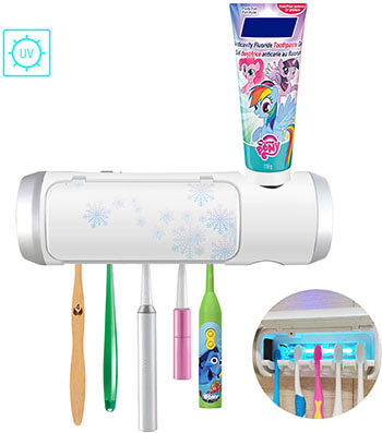 Aquatrend Toothbrush & Toothpaste Holder with UV Sterilization Light