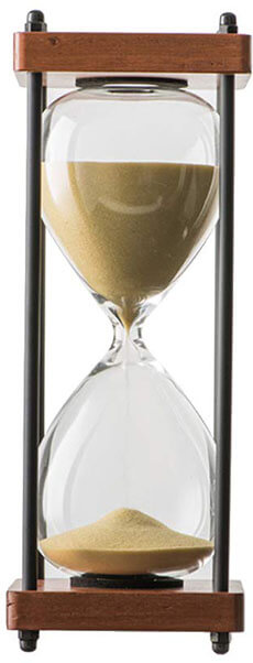 Bellaware Large Hourglass, 30 Minutes Wooden Sand Timer