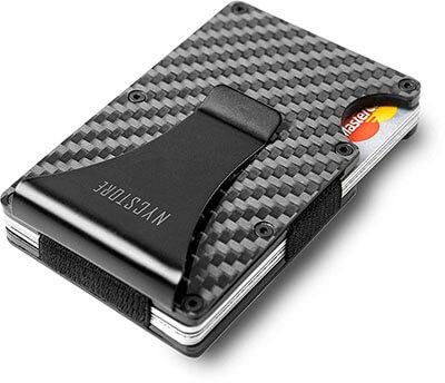 NYCstore RFID Minimalist Carbon Fiber Slim Wallet