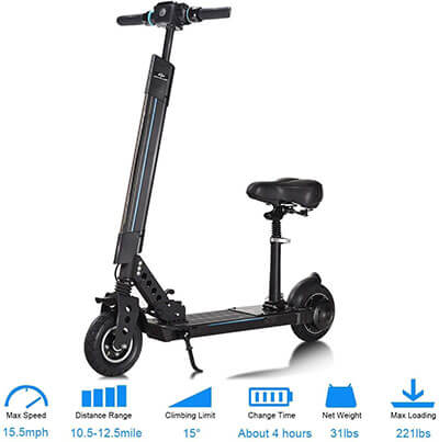 SAFSTAR Electric Scooter Foldable E-Bike Bicycle Kick Scooter