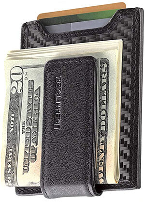 Urban Tribe Secure Slim Carbon Fiber Money Clip Wallet