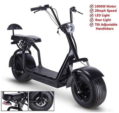 Rugged 48V 1000Watt Electric Fat Tire Scooters