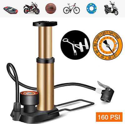 JUISEE Bike Pump High-Pressure Compact Bicycle Pump