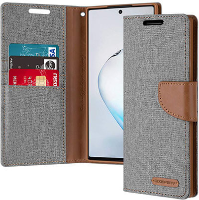 Goospery Canvas Wallet for Samsung Galaxy Note 10 Plus