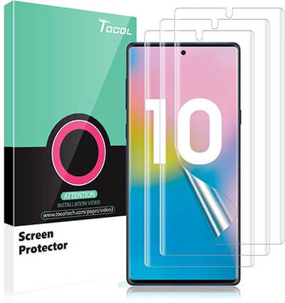 TOCOL Samsung Galaxy Note 10 TPU HD Screen Protector