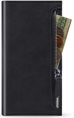 Qoosan Galaxy Note 10 Plus Zipper Wallet Case