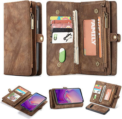 Simicoo Samsung Galaxy Note 10 Plus Detachable Leather Wallet Case