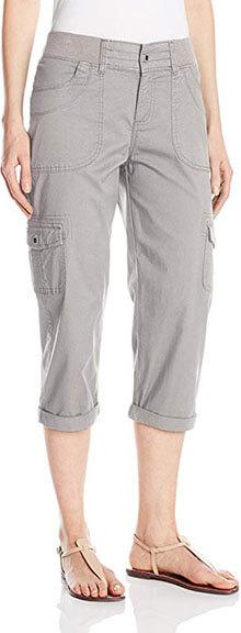 LEE Women's Austyn Knit-Waist Cargo Capri Pant