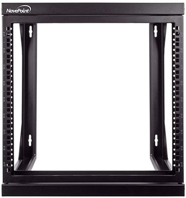 NavePoint 9U Wall Mount IT Swing-Out Open Frame