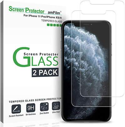 amFilm iPhone 11 Pro / X / XS Glass Screen Protector