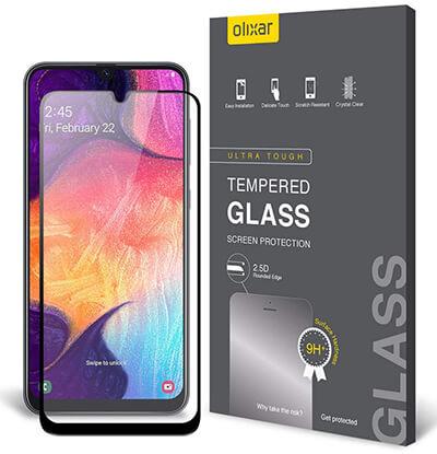 Olixar Galaxy A50 Tempered Glass Screen Protector