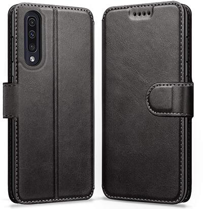 Ykooe Samsung Galaxy A50 Leather Wallet Flip Case