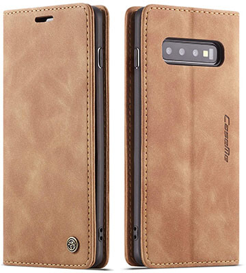 Bpowe Leather Wallet Case Classic Design with Card slot