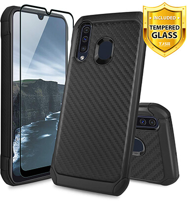 TJS Phone Dual Layers Samsung Galaxy A50 Case