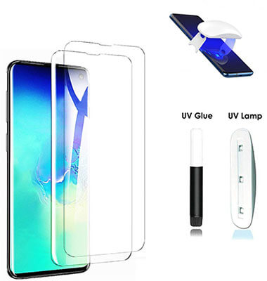 UPONEW UV Tempered Glass Screen Protector for Galaxy S10