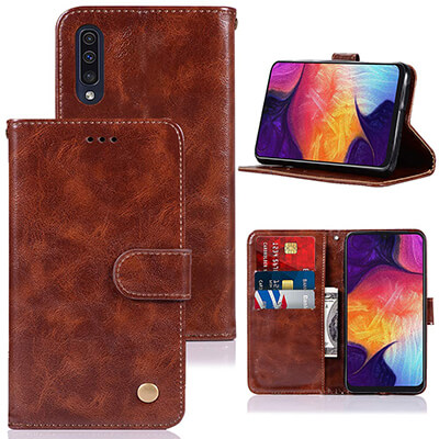 Zoeirc PU Leather Wallet Flip Folio Galaxy A50 Case