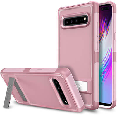 Htwon Samsung Galaxy S10 5G Case with Metal Kickstand