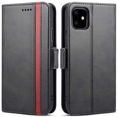 Rssviss Protective Leather iPhone 11 Case